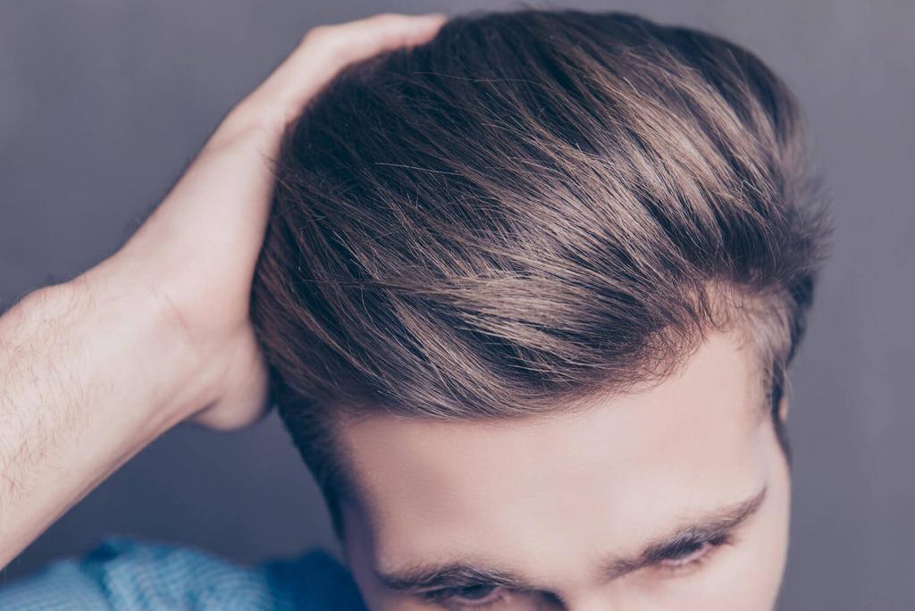 Healthy man hair