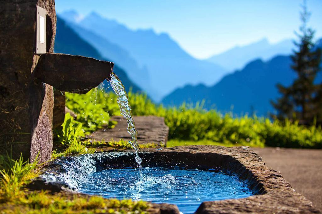 Clean spring water
